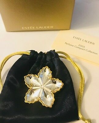 """Full/unused 2005 Estee Lauder Intuition """"sparkling Snowflakes"""" In Dbl Boxes"""
