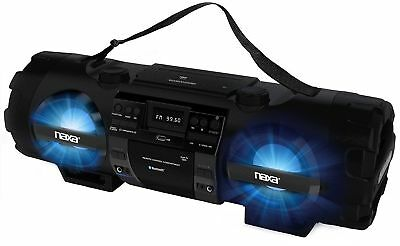 NAXA NPB262, Electronics MP3/CD Bass Reflex Boombox and PA System with Bluetooth