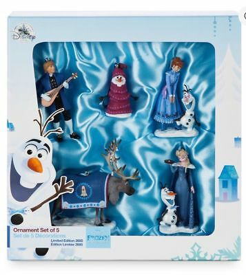 Disney Store Olaf Frozen Adventure 5 Ornament Set LE New Sketchbook