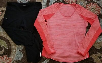 Athlets Leggings And Longleeve Top Outfit Size Medium