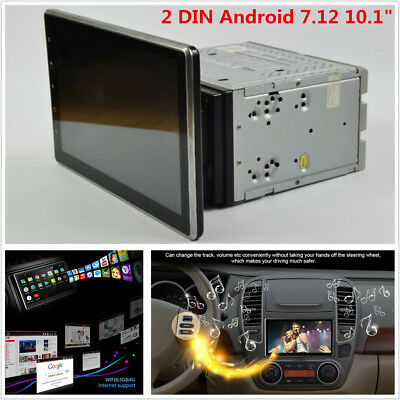 """2 DIN Android 7.12 10.1"""" Car Stereo Radio GPS Wifi DVD 4G BT DAB DTV Mirror Link"""