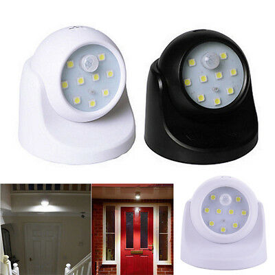 360° Battery Operated Indoor Outdoor Garden Motion Sensor Security LED Light Hot