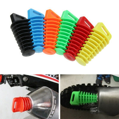 Rubber stopper Motorcycle Exhaust Muffler Mute Motorbike  Wash Plug  Silencer