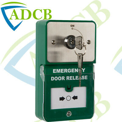 Surface Mount Wide Press to Exit Button Plate Access Release Switch Access Door