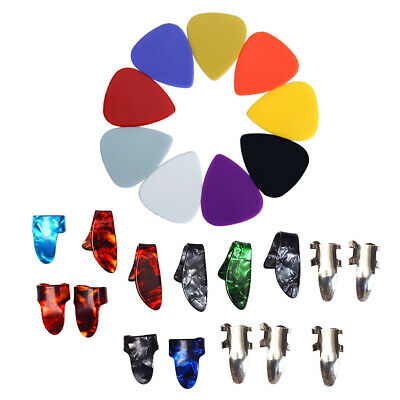 Guitar Pick Plectrum+Thumb Fingertip Finger Plectrum for Guitar Accessories