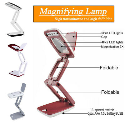NEW Magnifying Lamp Daylight Magnifier Lens Desk Table Task Craft Work Bench UK