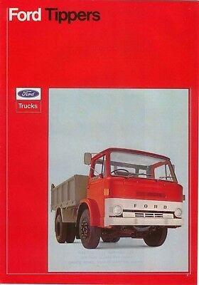 Ford D Series Tipper 1973 Original UK Sales Brochure Pub. No. FB248
