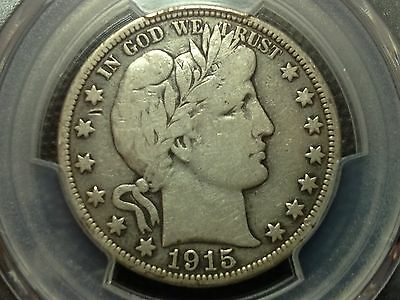 PCGS F-12 1915-p  Barber Half Dollar LITY 2/3 of BER  Nice for a 12 #