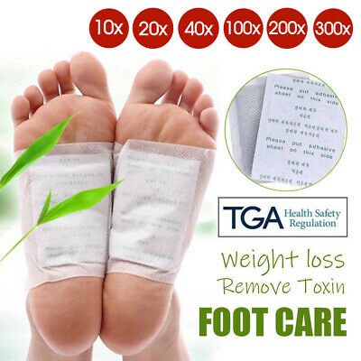 Detox Foot Patches Pad Natural Plant Toxin Removal Sticky Adhesives100/200/300