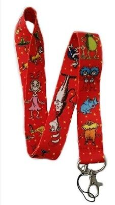 Dr Seuss The Cat In The Hat Printed Lanyard Neck Strap Id Pin Holder