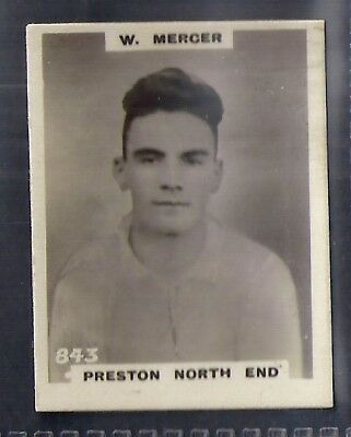 PINNACE FOOTBALL-PHOTO BACK-#0314 PRESTON NORTH END J McCALL