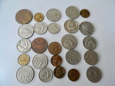 Lot of 25 USSR/Soviet  Coins  1980s