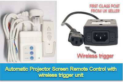 Motorised Projector Screen REMOTE Control RF Curtain Blind + WIRELESS TRIGGER