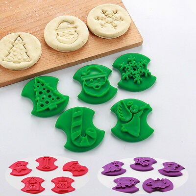 5pcs Set Cookie Cutter Christmas Biscuits Mold Cartoon Animal Cake Fondant Mould