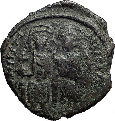 JUSTIN II & Queen Sophia 565AD HUGE Medieval  Ancient Byzantine Coin  i74180