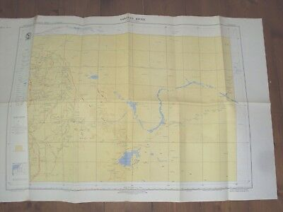 Oakover River Western Australia - Australian Geographical Fold Out Map  - 1959