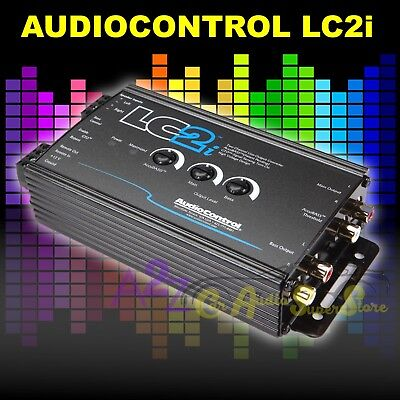 AUDIOCONTROL LC2i BLACK 2 CHANNEL LINE CONVERTER WITH ACCUBASS NEW HI LOW CONV