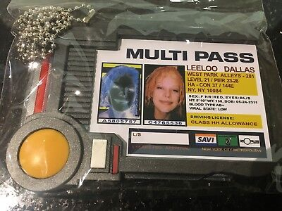QMX The Fifth Element Multipass Replica Lootcrate ID Card Science Personal Badge