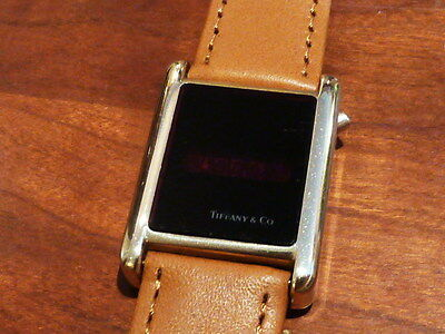 Tiffany & Co Fairchild Solid Gold 70s LED digital watch bullion ONE ONLY!