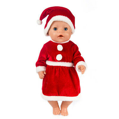 Doll Christmas Dress Clothes Set Fits 18 Inch American Girl Dolls Dress up