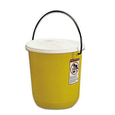 Nalgene™ Graduated Air-Tight Yellow 14 Qt. Pail with Cover