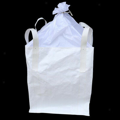 2Ton/ 4400lbs FIBC Big Bulk Bag Super Sack w/ Duffle Top & 4 Loops