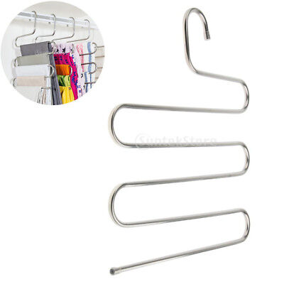 Stainless Steel 5 Layers S-Type Clothes Pants Hanger