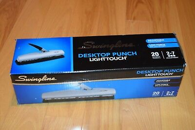 Swingline LightTouch High Capacity Desktop Punch, Adjustable 2-7 Holes, 20 Sheet