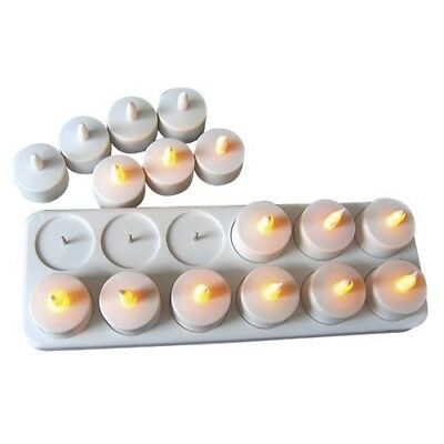 Rechargeable Tealight Candles X 24 With Charger Warm Light wedding restaurant