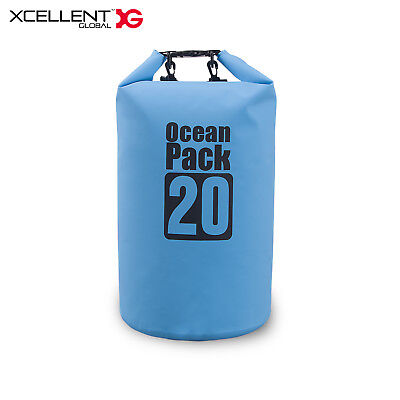20L Dry Storage Bag Outdoor Waterproof Floating Sack for Camping Blue CP001L
