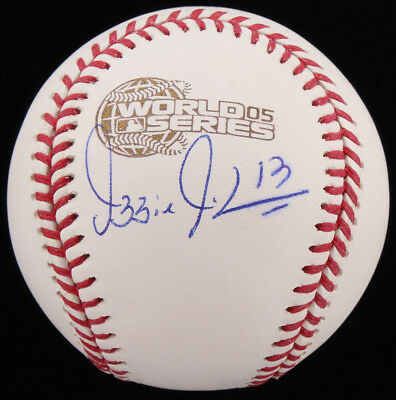 b611603a7ed Ozzie Guillen Signed 2005 World Series Baseball (Schwartz COA) Chicago  White Sox