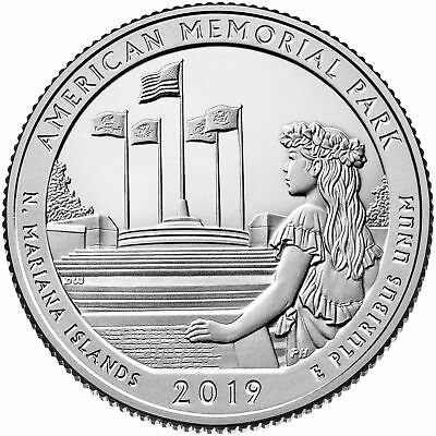 "2019 ""S"" ATB American Memorial Park, Clad Quarter, Proof, Single Coin"