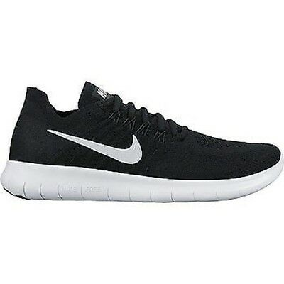 competitive price d084a 8ceaf Femmes Nike Free Run Flyknit 2017 - 880844 001 - Baskets Noires Blanches