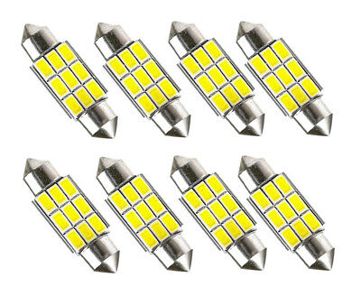 8x Sofitte Soffitte 42mm 9 SMD LED Innenraum Beleuchtung Lampe 12V Deutsche Post