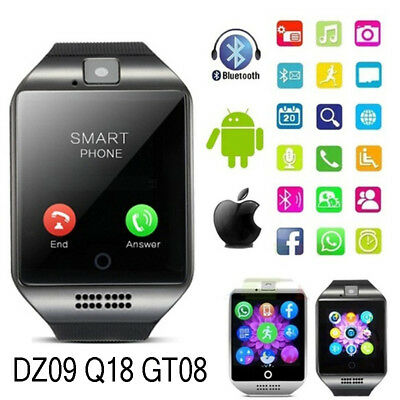 Bluetooth Smart Wrist Watch Phone Mate For Android&iOS Fitness Tracker Uk