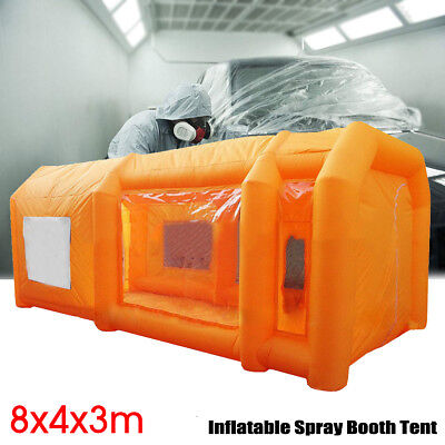 26x13x10Ft Giant Inflatable Spray Paint Booth Custom Tent Car Mobile Workstation