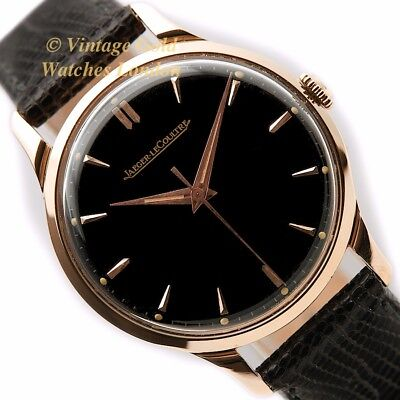 Jaeger-Lecoultre Cal.p800/c, 18Ct Pink Gold, Black Dial, 1957 - Immaculate!