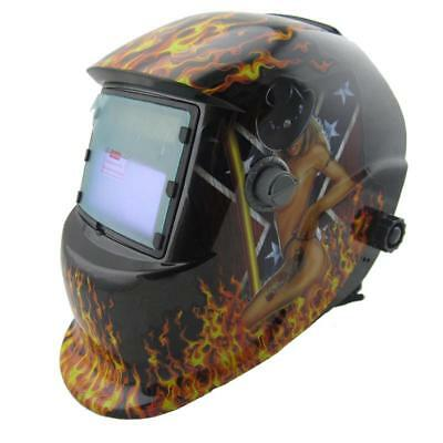 Auto Darkening Welding Helmet Mask Welder Grinding Solar Power Green New