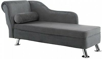 HOMCOM Deluxe Chaise Longue Designer Retro Vintage Style Sofa Lounge Day Bed