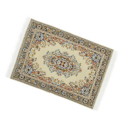 1:12 Rectangle Rug Dollhouse Carpet Floor Coverings Miniature Decoration