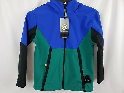 55a402f76d3fee C9 Champion Soft Shell Fleece Jacket Blue   Green   Black Boys  New