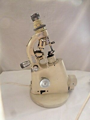 Vintage Winkel Zeiss Microscope 119319 PAT Tested