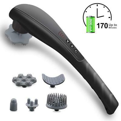 Cordless Percussion Electric Massager Rechargeable Handheld Body Neck Back Feet