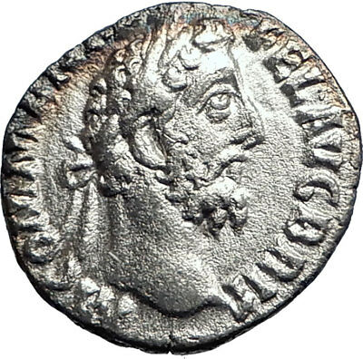 COMMODUS son of Marcus Aurelius 188AD Silver Ancient  Roman Coin Liberty i74191
