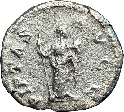 PLAUTILA wife of Caracalla 203AD Rome Silver Ancient Roman Coin Pietas i74193