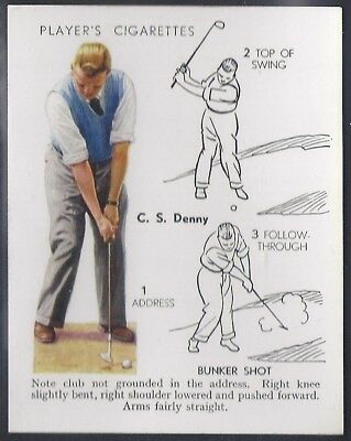 Players-Golf (Uk Issue L25)-#13- Bunker Shot - C. S. Denny