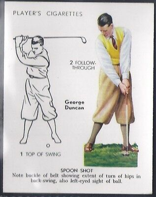 Players-Golf (Uk Issue L25)-#14- Spoon Shot - George Duncan