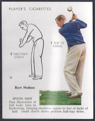Players-Golf (Uk Issue L25)-#17- Spoon Shot - Bert Hodson