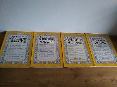 Job lot National Geographic 4 issues 1955 & 1956 - Craft projects