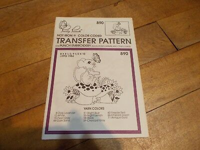 VTG PRETTY PUNCH Mouse Hot Iron Transfer Pattern #890